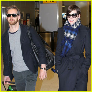 Anne Hathaway & Adam Shulman: Back in the Big Apple!