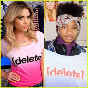 Ashley Benson & Willow Smith: Delete Digital Drama & End Cyberbullying!