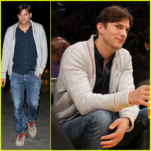 Ashton Kutcher: Courtside Lakers Game!