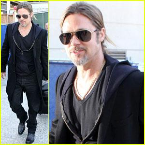 Brad Pitt: LAX Arrival!