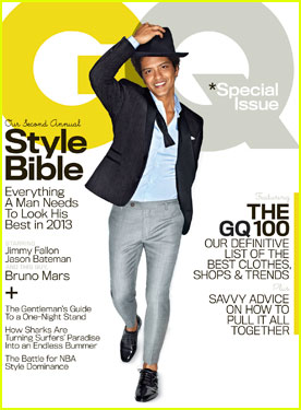 Bruno Mars Covers 'GQ' Magazine April 2013