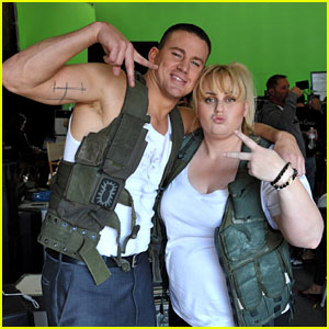 Channing Tatum & Rebel Wilson: MTV Movie Awards Promo Outtakes Video!