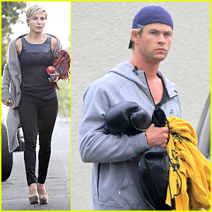 Chris Hemsworth Hits the Gym, Elsa Pataky Rides in a Limo