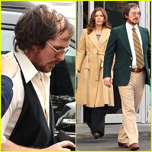 Christian Bale: Comb Over Cut for 'Abscam' with Amy Adams!