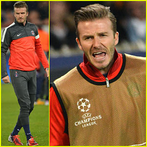 David Beckham Cheers on the Sidelines for Paris Saint-Germain!