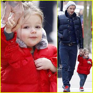 David Beckham: Holding Hands with Harper!