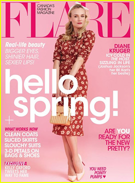 Diane Kruger Covers 'Flare' Magazine April 2013