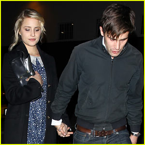Dianna Agron & Christian Cooke: Holding Hands at Sayers Club!