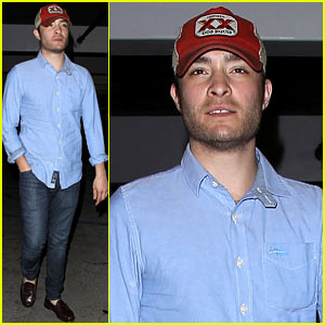 Ed Westwick: Solo Movie Theater Outing!