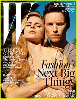 Eddie Redmayne & Brit Marling Cover 'W Magazine' April 2013
