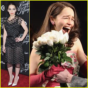 Emilia Clarke: 'Breakfast at Tiffany's' Opening Night!