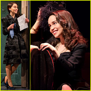 Emilia Clarke: 'Breakfast at Tiffany's' Production Shots!