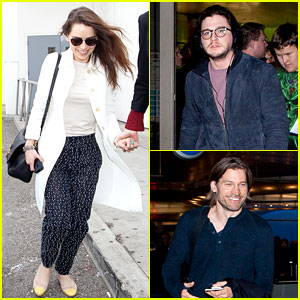 Emilia Clarke & Kit Harington: 'Game of Thrones' Cast Landing!