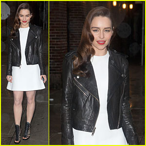 Emilia Clarke: 'Late Show with David Letterman' Taping!