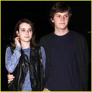 Emma Roberts & Evan Peters: Movie Date Night!