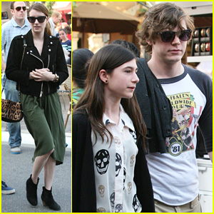 Emma Roberts & Evan Peters: The Grove Outing!
