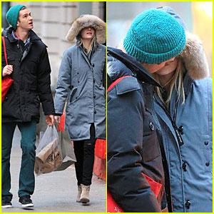 Emma Stone & Andrew Garfield: Kissing During 'Amazing Spider-Man 2' Break!