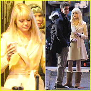Emma Stone & Andrew Garfield: Scene Stealing Couple on 'Amazing Spider-Man 2' Set