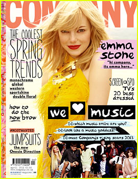 Emma Stone Covers 'Company' April 2013