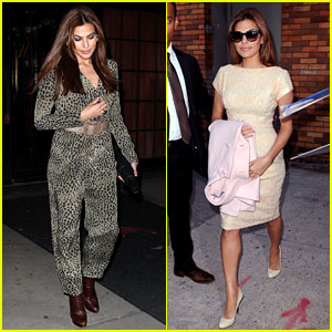 Eva Mendes: Leopard Jumpsuit at Private MoMa Screening!