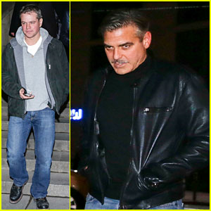 George Clooney & Matt Damon: Berlin Buddies!