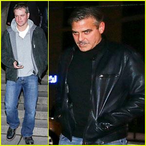 George Clooney & Matt Damon: Berlin Buddies!