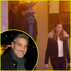 George Clooney: 'Monuments Men' Set with Stacy Keibler!