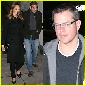 George Clooney & Stacy Keibler: Grille Royal Dinner with Matt Damon!