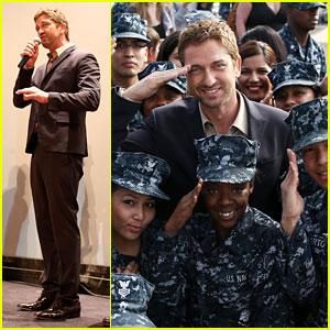 Gerard Butler: 'Olympus Has Fallen' Naval Base Screening