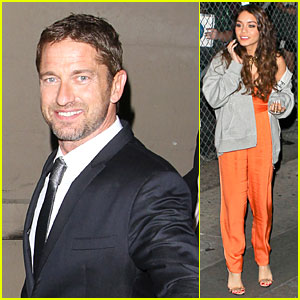 Gerard Butler & Vanessa Hudgens: 'Jimmy Kimmel' Promoting Duo!