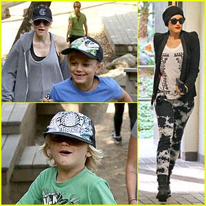 Gwen Stefani: Hiking with Kingston & Zuma!