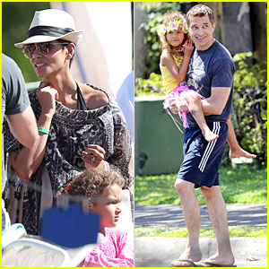 Halle Berry & Nahla: Henna Tattooing Mother-Daughter Duo!