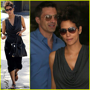 Halle Berry & Olivier Martinez: Fig & Olive Lunch!