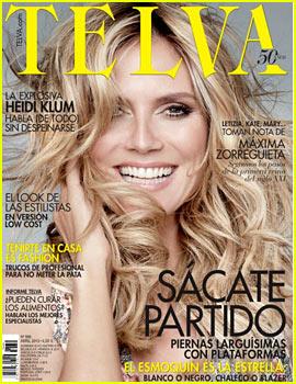 Heidi Klum Covers 'Telva' April 2013