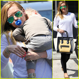 Hilary Duff: L.A. Outing with Sleepy Luca!