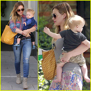 Hilary Duff: Plaid Breakfast with Luca!