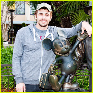 James Franco Visits Disney After Releasing New Book