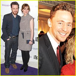 James McAvoy & Tom Hiddleston: South Bank Sky Arts Awards!