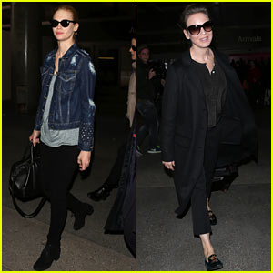 January Jones &#038; Renee Zellweger: Back from Paris Fashion Week
