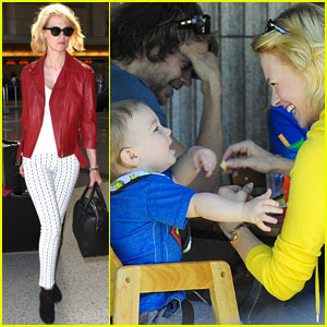 January Jones & Xander: Le Pain Quotidien Lunch!