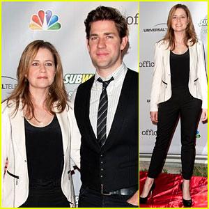 John Krasinski & Jenna Fischer: 'The Office' Series Wrap Party!