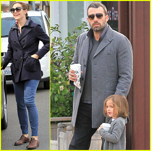Jennifer Garner & Ben Affleck: Morning Coffee Run with Sera!