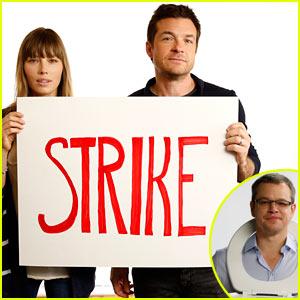 Jessica Biel & Jason Bateman Join Matt Damon's Toilet Strike