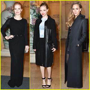 Jessica Chastain & Amanda Seyfried: Carine Roitfeld Cocktail Party