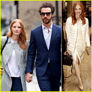 Jessica Chastain & Gian Luca Passi de Preposulo Hold Hands in Paris!