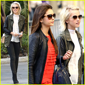 Julianne Hough: Post-Split Lakers Game with Nina Dobrev!