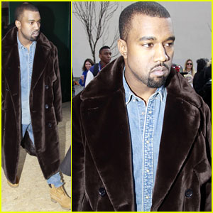 Kanye West: Celine Paris Fashion Show