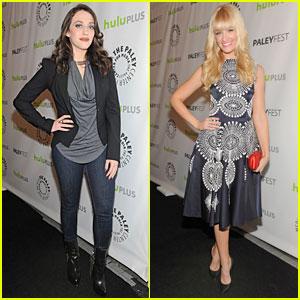 Kat Dennings & Beth Behrs: PaleyFest with '2 Broke Girls' Cast!
