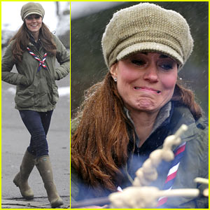 Kate Middleton: Pregnant Great Tower Scout Camp Visit!