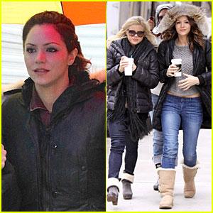 Katharine McPhee & Megan Hilty: Snowy 'Smash' Set!